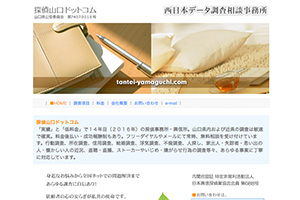 西日本データ調査相談事務所のHP